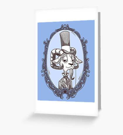 lordy goat Greeting Card