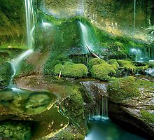 Mossy cascades, Walls of Jerusalem by Kevin McGennan