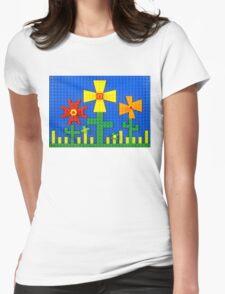 Flower Garden Womens Fitted T-Shirt