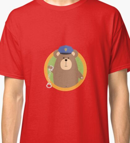 Officer Grizzly with Handcuffs in circle Classic T-Shirt