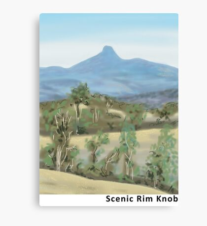 Scenic Rim Knob Canvas Print