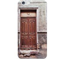 The old brown door iPhone Case/Skin