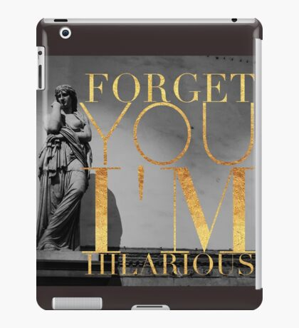 Some funny and sarcastic typography  iPad Case/Skin
