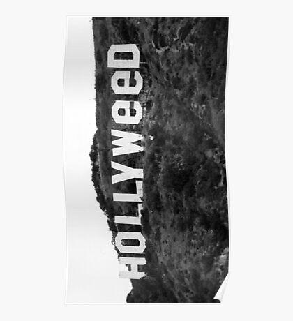 Hollyweed - Black/White Poster