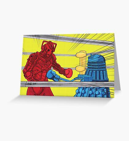 Rockem Sockem WhoBots Greeting Card