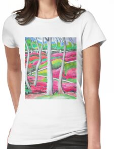 Rhododendron Gardens Womens Fitted T-Shirt