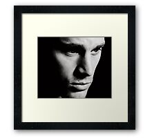 Channing Tatum Face Framed Print
