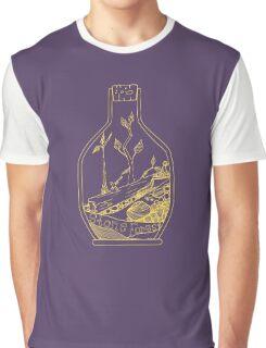 Terrarium Fallen Tree (gold) Graphic T-Shirt