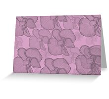Pink and Black Florals Greeting Card