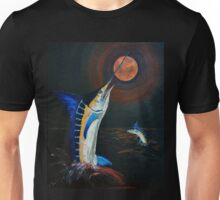 Marlins Frolicking under the Red Moon Unisex T-Shirt