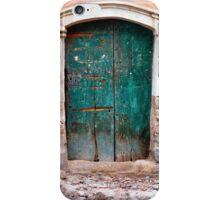The old green door iPhone Case/Skin
