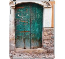 The old green door iPad Case/Skin