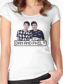 Dan and Phil! Women's Fitted Scoop T-Shirt