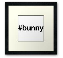 Bunny Funny Bunny Shirt Framed Print