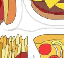 Hot dog,Cheeseburger,Fries and Pizza Sticker