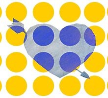 Heart & Arrows Yellow x Blue by Jessica Slater