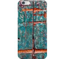 The old green door close up iPhone Case/Skin