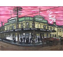 Sydney pubs in oil&ink-*3 The Native Rose,Chippendale NSW circa 1923-24 Photographic Print