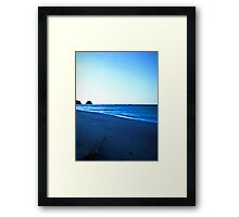 Driftwood on a Beach in the Dying Light Framed Print