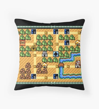 Super Mario Bros. 3 World 1 Throw Pillow