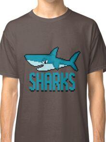 Teal Shark - Pixels Classic T-Shirt