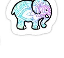Tie Dye Cute Elephant Pack of 6 Sticker
