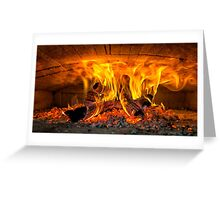Into the fire... Greeting Card
