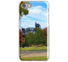 The Clinton Footbridge With Fall Colors iPhone Case/Skin