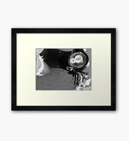 Scooter B&W Framed Print