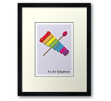 X is for Xylophone Framed Print