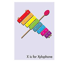 X is for Xylophone Photographic Print