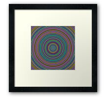 Multicolored Circles/Rings Pattern Framed Print