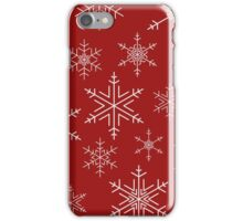 Snowflakes Red iPhone Case/Skin
