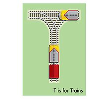 T is for Train Photographic Print