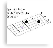 Open Position Guitar Chord: E7 (Simple) Guitar Shirt Men Canvas Print