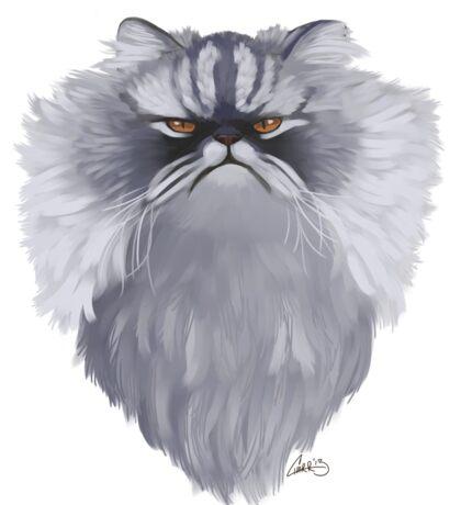 Persian Cat Caricature Sticker