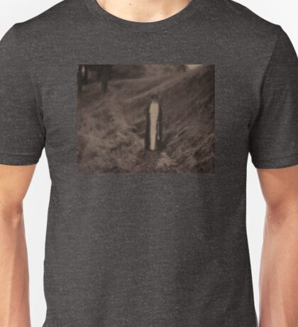 Robed Figure on Path Unisex T-Shirt
