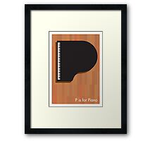P is for Piano Framed Print