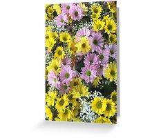 Yellow and pink flowers Greeting Card