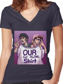 Get along, Griffsnuff and Witchpaws Women's Fitted V-Neck T-Shirt
