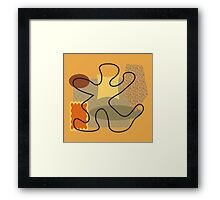Abstract modern 50s style Framed Print