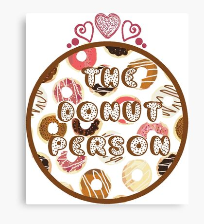 The Donut Person Canvas Print