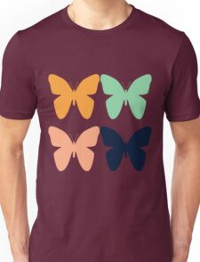 Multicolored Butterfly Pattern Unisex T-Shirt