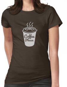 Cool Coffee Typography T-Shirt Womens Fitted T-Shirt
