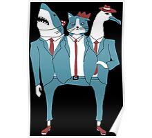 Shark Cat Albatross Poster