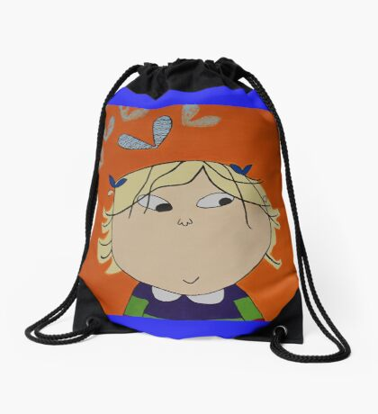 Lola with Butterfly Kisses Drawstring Bag
