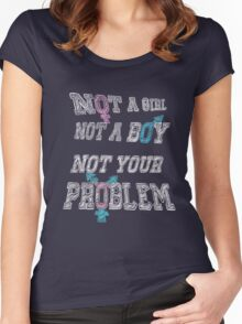 Nonbinary Trans Pride - Black Women's Fitted Scoop T-Shirt