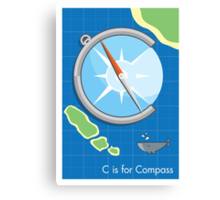 C is for Compass Canvas Print