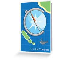 C is for Compass Greeting Card