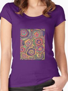 Funky Landscape Women's Fitted Scoop T-Shirt